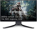"""Alienware AW2521H 360Hz 24.5"""" FHD NVIDIA G-SYNC Gaming Monitor $380"""