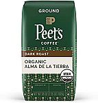 36 oz Peet's Coffee Organic Alma de la Tierra, Dark Roast Ground Coffee $16