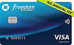 Chase Freedom® Student Credit Card - Earn $50 Bonus, No Annual Fee