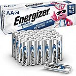 24-pack Energizer AA Ultimate Lithium Batteries $20
