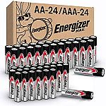 48-count Energizer MAX AA Batteries & AAA Batteries $14.84