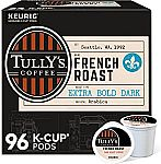 96-Count Tully's Coffee Single-Serve Keurig K-Cup Pods $18