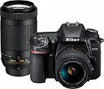 Nikon D7500 DSLR 4K Video Two Lens Kit w/ 18-55mm and 70-300mm Lenses $800
