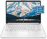 "HP 14-dq0040nr 14"" HD Laptop (N4020 4GB 64GB White) $250"