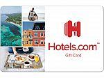 $100 Hotels.com Gift Card $92