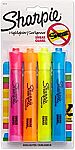 Sharpie Accent Tank-Style 4 Colored Highlighters $1.49