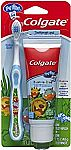 Colgate My First Baby and Toddler Training Toothbrush and Fluoride Free Toothpaste Set $2.71