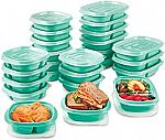 Rubbermaid TakeAlongs On The Go Food Storage and Meal Prep Containers (Set of 25) $12.71