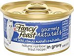 12-Pk Purina Fancy Feast Natural Rainbow Trout In Gravy Canned Cat Food $6.75