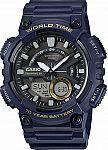 Casio Men's Quartz World Time Blue Resin 50mm Watch AEQ110W-2AV $26