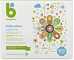 400-Ct Babyganics Unscented Baby Diaper Wipes $9.74