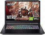 "Acer Nitro 5 AN517-41-R3NX 17.3"" FHD 360Hz Gaming Laptop (Ryzen 7 5800H RTX 3080 16GB 1TB SSD) $1999.99"