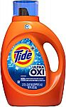 Amazon $10 Off 3+ items: Tide Ultra Oxi Liquid Detergent (3 for $21.70)