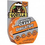 Gorilla Crystal Clear Tape, 1.88 inch x 27 ft Roll $3.20