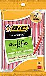 10-Count BIC Round Stic Xtra Life Ballpoint Pen $0.99