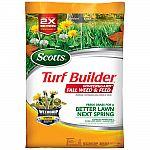 Scotts 32 lb. 10,000 sq. ft. Turf Builder Winterguard Plus Weed Control Fall Lawn Fertilizer $35
