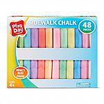 48-Piece Play Day Won't Roll Away Sidewalk Chalk Set $2 & More
