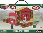 LINCOLN LOGS Fun on the Farm - Real Wood Logs (102 parts) $18