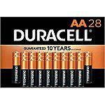 28-ct Duracell CopperTop AA Alkaline Batteries $9