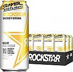 12-Pack 16-oz Rockstar Sugar Free Energy Drink $12.50 & More
