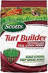 Scotts Lawn Care Products Sale: Scotts Turf Builder WinterGuard Fall Lawn Food (12.5 Lb) $16 and more