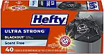 40-Ct 13 Gal Hefty Ultra Strong Tall Kitchen Trash Bags $5