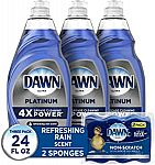 3-Ct 24-oz Dawn Platinum Dishwashing Liquid Dish Soap + 2-Ct Non-Scratch Sponge $9