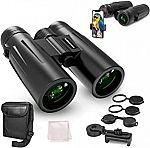 UBeesize 12x42 Compact Binoculars with Phone Holder $16 + Free Shipping