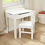 Melissa & Doug Wooden Lift-Top Desk & Chair (White) $63