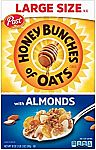 18-oz Post Honey Bunches of Oats w/ Almonds Cereal $2.38