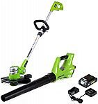 Greenworks 24V String Trimmer & Blower w/ 2Ah Battery $89.50