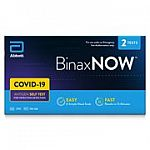BinaxNOW COVID‐19 Antigen Self Test (2 Count) $14