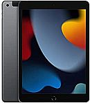"2021 Apple 10.2"" iPad (Wi-Fi + Cellular, 64GB) Gray $449.98"