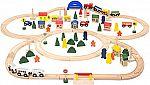 102Pc Battat Classic Toy Wooden Train Set $32