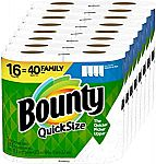 16 Family Rolls Bounty Quick-Size Paper Towels $26.50